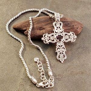 Brighton Endless Love Heart Cross Necklace